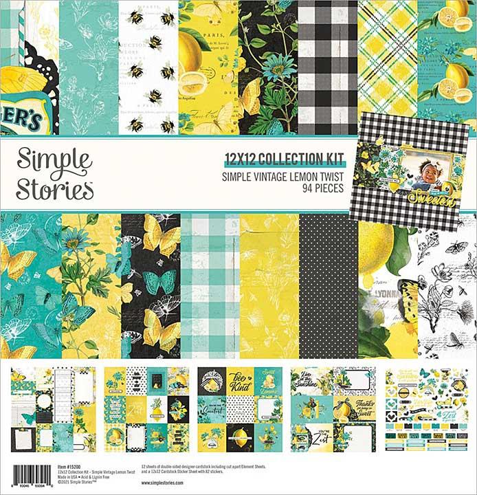 Simple Stories Collection Kit 12x12 - Simple Vintage Lemon Twist