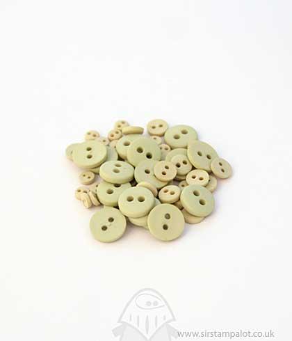 Matte Finish Buttons - Green Apple