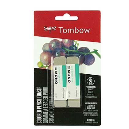 Tombow Mono - Coloured Pencil Eraser, Silica Grit (2pk) Sand Eraser