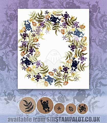 SO: Rubber Stamp Tapestry - Frogs and Ferns Border Set