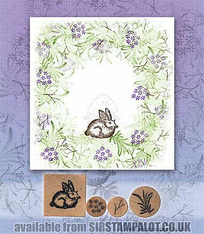 Rubber Stamp Tapestry - Bunny Garden Set