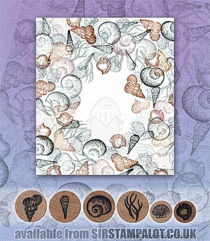 Rubber Stamp Tapestry - Shell Border Set