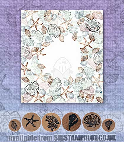 SO: Rubber Stamp Tapestry - Starfish and Shells Set