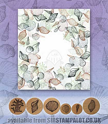 SO: Rubber Stamp Tapestry - Coral and Triton Shell Border Set