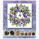 Rubber Stamp Tapestry - Berries and Buds Wreath Set