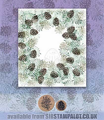 Rubber Stamp Tapestry - Pine Branch Border Set
