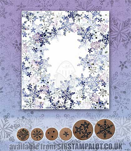 SO: Rubber Stamp Tapestry - Winter Night Sky Set
