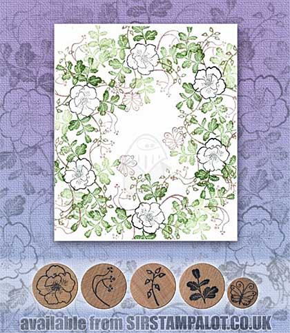 Rubber Stamp Tapestry - Wild Floral Set
