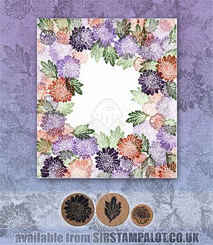 Rubber Stamp Tapestry - Garden of Summer Mums Set