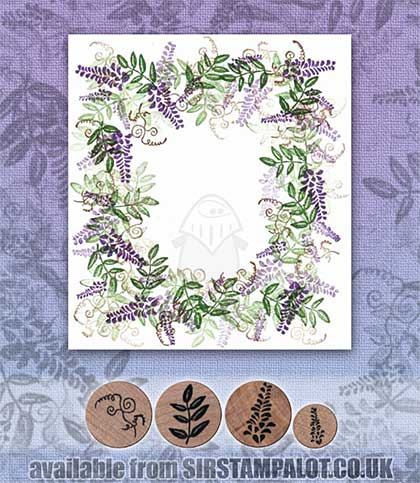 Rubber Stamp Tapestry - Wisteria Frame Set