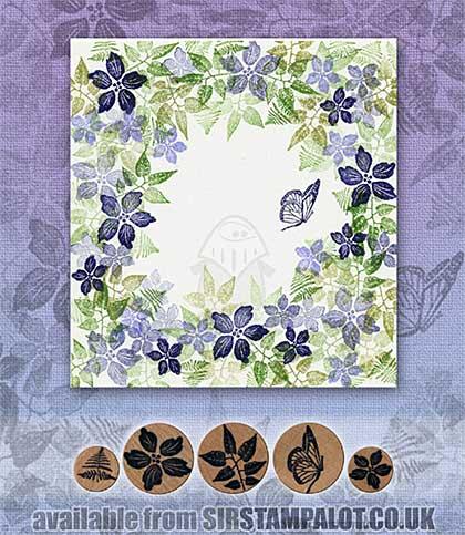 Rubber Stamp Tapestry - Garden of Blue Set