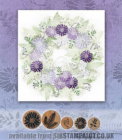 SO: Rubber Stamp Tapestry - Aster Wreath Set