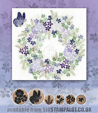 SO: Rubber Stamp Tapestry - Butterfly Blooms Set