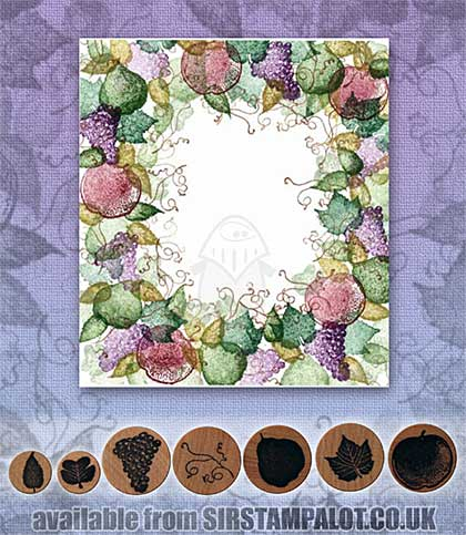 SO: Rubber Stamp Tapestry - Fruit Wreath Set