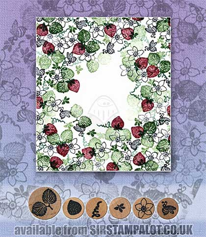 SO: Rubber Stamp Tapestry - Auntie\'s Strawberry Garden Set