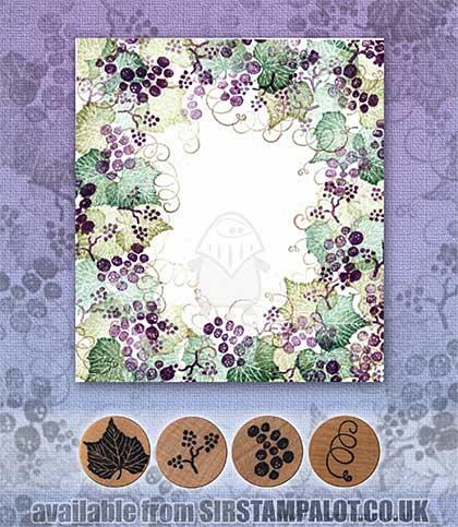 Rubber Stamp Tapestry - Grape Border Set