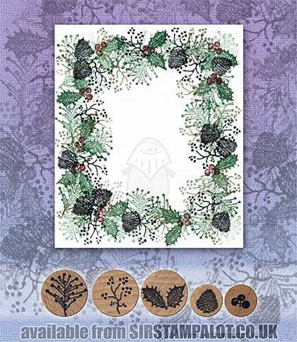 SO: Rubber Stamp Tapestry - Holly Border Set