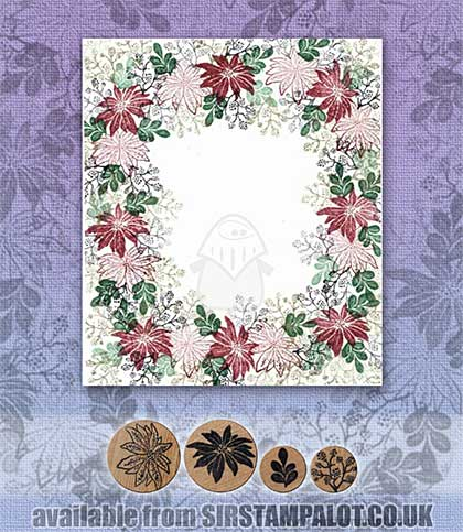 Rubber Stamp Tapestry - Holiday Garden Border Set