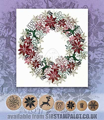 SO: Rubber Stamp Tapestry - Christmas Love Set