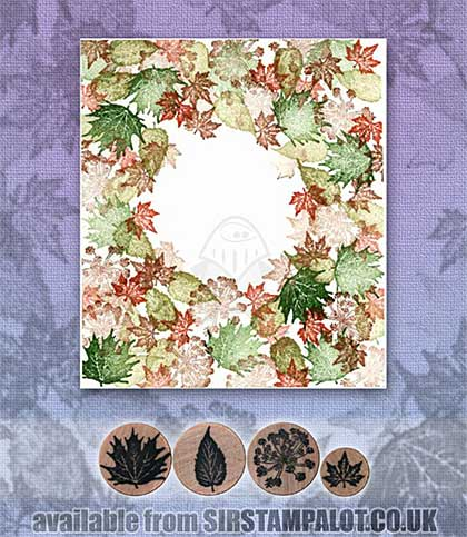 SO: Rubber Stamp Tapestry - Queen Anne\'s Lace and Leaves Set