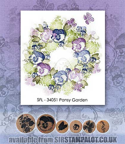SO: Rubber Stamp Tapestry - Pansy Garden Set