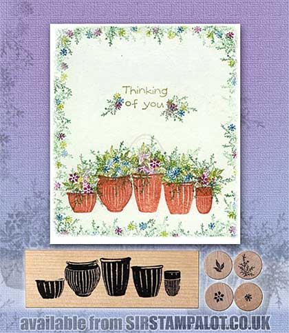 SO: Rubber Stamp Tapestry - Pottery Garden Set