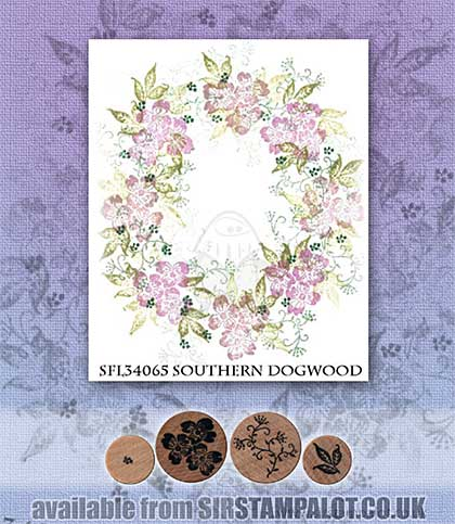 Rubber Stamp Tapestry - Southern Dogwood