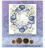 Rubber Stamp Tapestry - Blue Eden