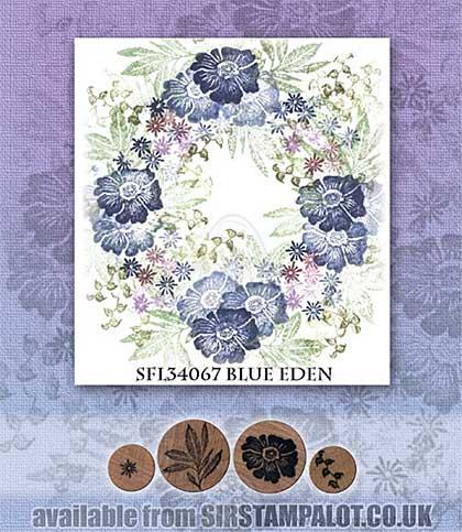 Rubber Stamp Tapestry - Blue Eden