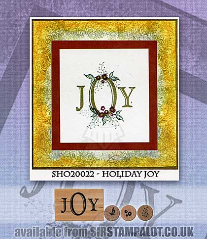 SO: Rubber Stamp Tapestry - Holiday Joy