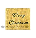 Rubber Stamp Tapestry Sentiments - Merry Christmas