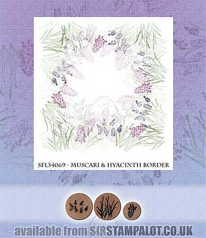 SO: Rubber Stamp Tapestry - Muscari and Hyacinth Border