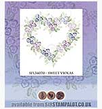 SO: Rubber Stamp Tapestry - Sweet Violas