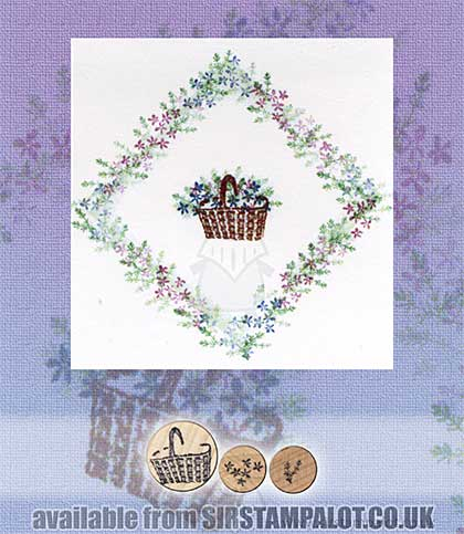 Rubber Stamp Tapestry - Little Posy Basket