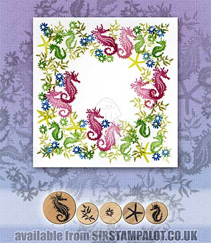 SO: Rubber Stamp Tapestry - Seahorse Garden