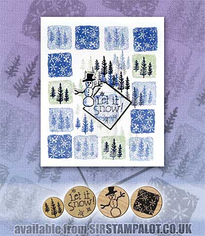 Rubber Stamp Tapestry - Snowy Wonderland