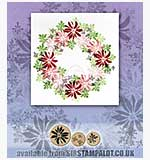 Rubber Stamp Tapestry - Poinsettia Dreams