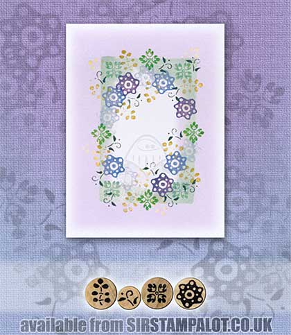 Rubber Stamp Tapestry - Deco Garland