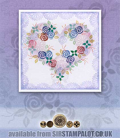 Rubber Stamp Tapestry - Heritage Roses