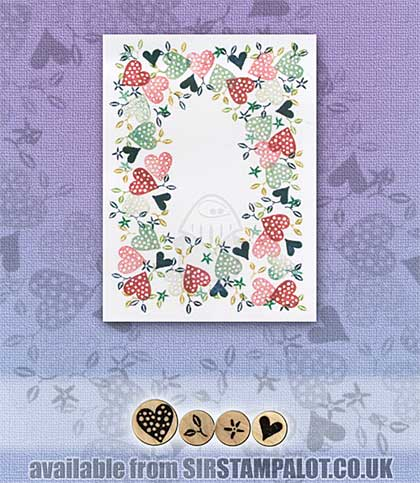 SO: Rubber Stamp Tapestry - Dotted Heart Border