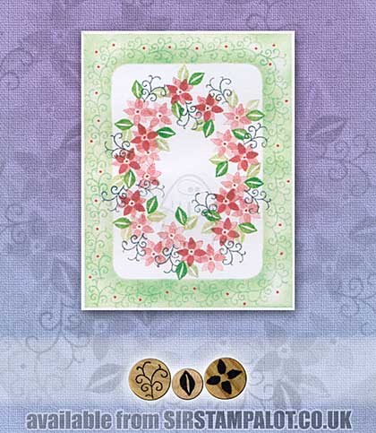 SO: Rubber Stamp Tapestry - Poinsettia Twist