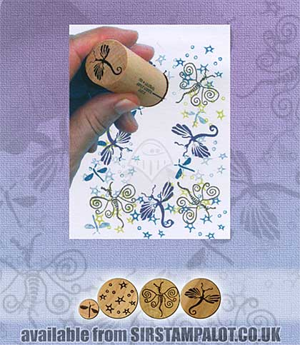 SO: Rubber Stamp Tapestry - Dancing Dragonflies