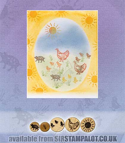 Rubber Stamp Tapestry - Farmyard Animals