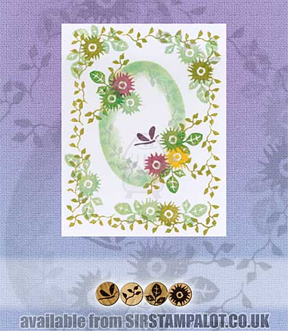 Rubber Stamp Tapestry - Sweet Everlastings
