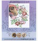 SO: Rubber Stamp Tapestry - Poinsettia Flourish