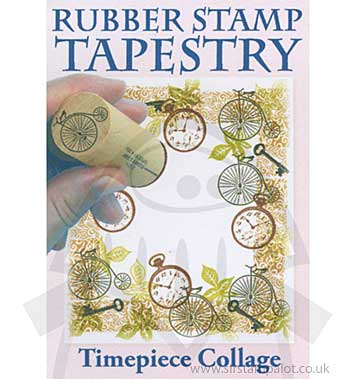 Rubber Stamp Tapestry - Timepiece Collage Set