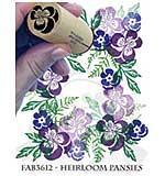 SO: Rubber Stamp Tapestry - Heirloom Pansies