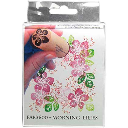 Rubber Stamp Tapestry - Morning Lilies
