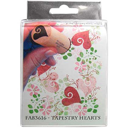 Rubber Stamp Tapestry - Tapestry Hearts
