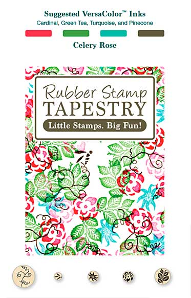 Rubber Stamp Tapestry - Celery Rose